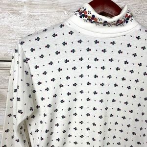 Vintage Nell Flowers fall leaves long sleeve shirt